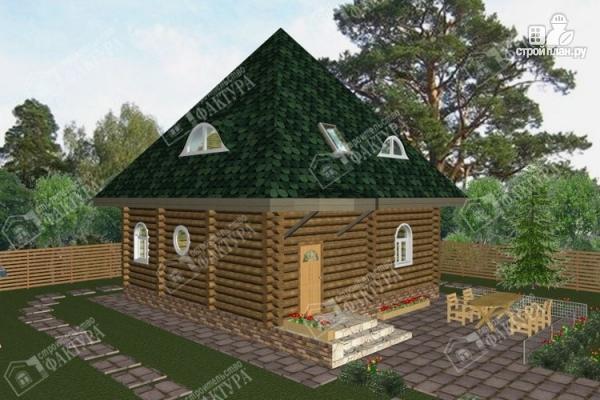 Фото: проект просторный дом из бревна