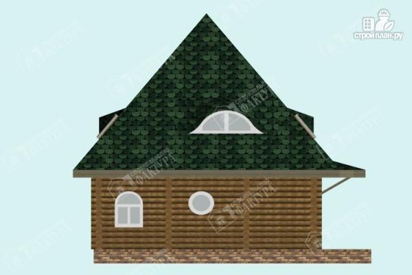 Фото 7: проект просторный дом из бревна