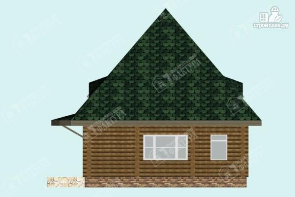 Фото 5: проект просторный дом из бревна