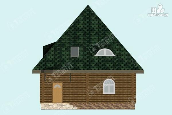 Фото 4: проект просторный дом из бревна