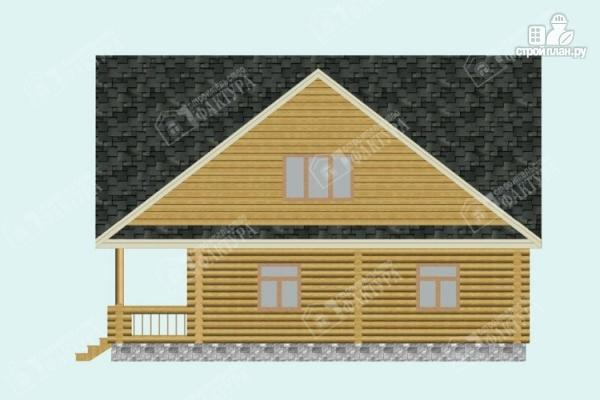 Фото 5: проект дом из бревна 10х11 с лоджией и широкой террасой