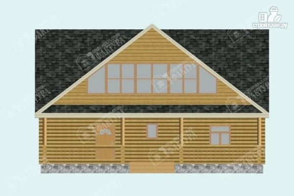 Фото 4: проект дом из бревна 10х11 с лоджией и широкой террасой