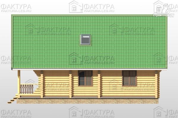 Фото 5: проект дом из бревна 9х12 с балконом и террасой