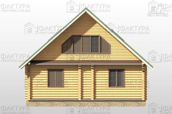 Фото 6: проект дом из бревна 9х12 с балконом и террасой
