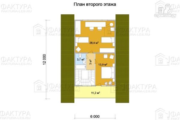 Фото 3: проект дом из бревна 9х12 с балконом и террасой