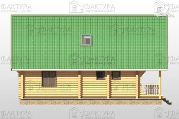 Фото 7: проект дом из бревна 9х12 с балконом и террасой