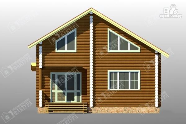 Фото 4: проект дом 9х9 из бревна 220 мм