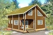 Проект дом 9х9 из бревна 220 мм