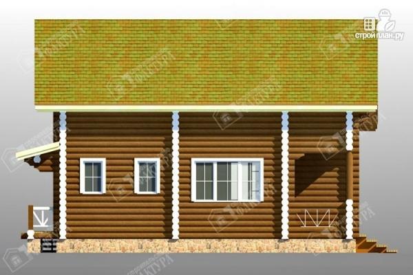 Фото 7: проект дом 9х9 из бревна 220 мм