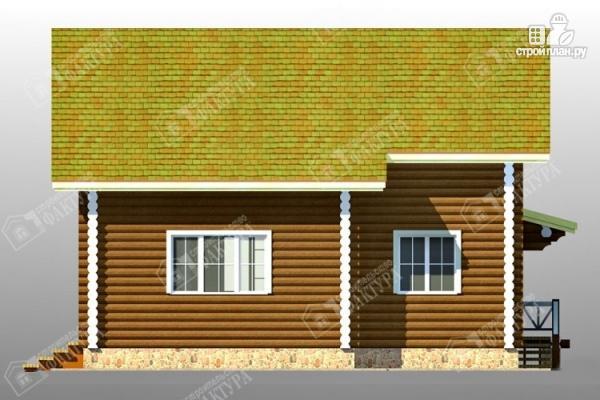 Фото 5: проект дом 9х9 из бревна 220 мм