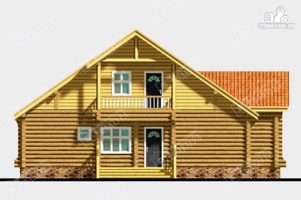 Фото 6: проект дом из бревна с крыльцом-верандой