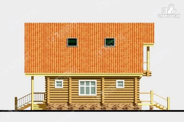 Фото 7: проект дом из бревна с крыльцом-верандой