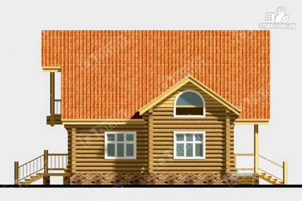 Фото 5: проект дом из бревна с крыльцом-верандой