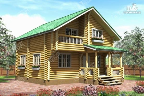 Фото: проект уютный дом из бревна