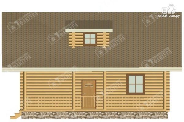 Фото 5: проект дом из бревна с мансардным этажом