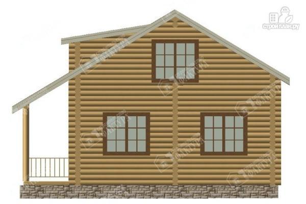 Фото 6: проект дом из бревна с мансардным этажом