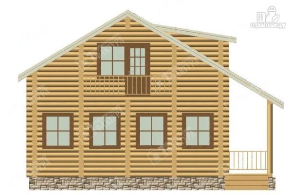 Фото 4: проект дом из бревна с мансардным этажом