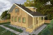 Проект дом из бревна с мансардным этажом