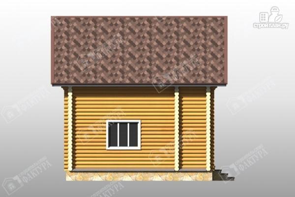 Фото 7: проект дом из бревна с красивым фасадом