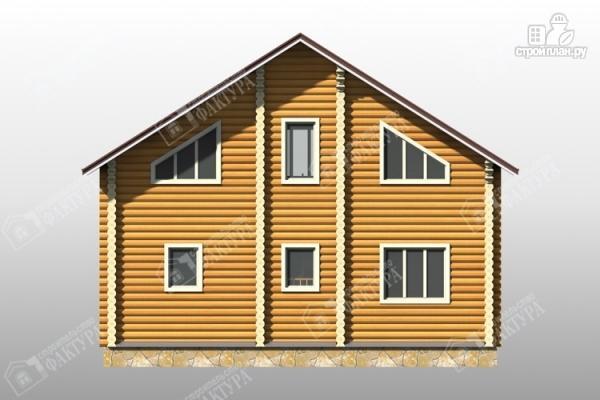 Фото 6: проект дом из бревна с красивым фасадом
