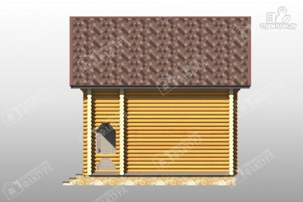 Фото 5: проект дом из бревна с красивым фасадом