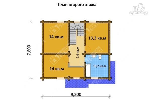 Фото 3: проект дом из бревна 220 мм