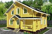 Фото: дом из бревна 220 мм