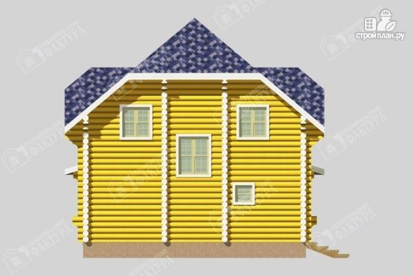 Фото 7: проект дом деревянный с большой террасой