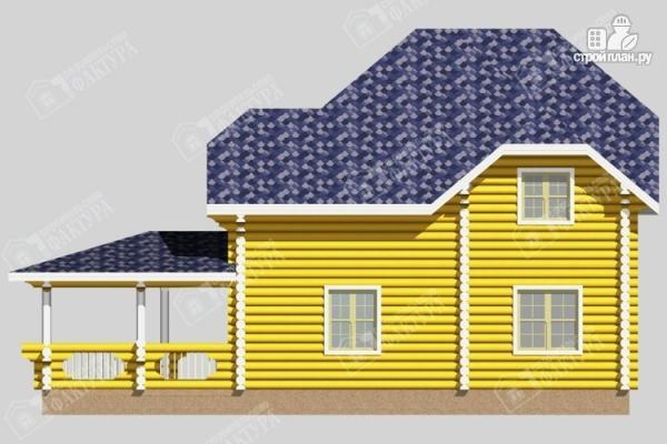 Фото 6: проект дом деревянный с большой террасой
