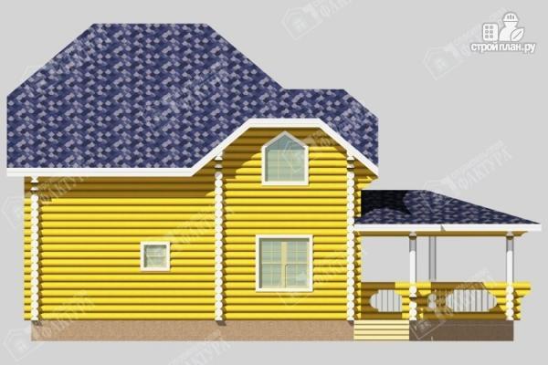 Фото 4: проект дом деревянный с большой террасой