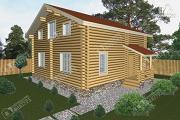 Проект дом из бревна 9х10 с крыльцом