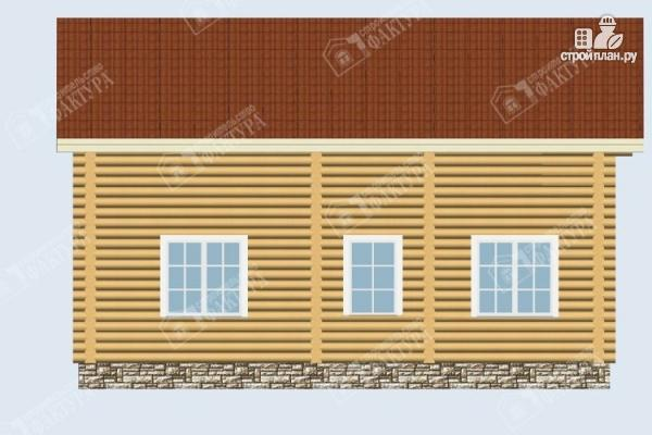 Фото 7: проект дом из бревна 9х10 с крыльцом