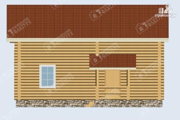 Фото 5: проект дом из бревна 9х10 с крыльцом