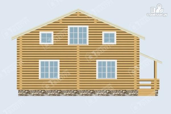 Фото 4: проект дом из бревна 9х10 с крыльцом