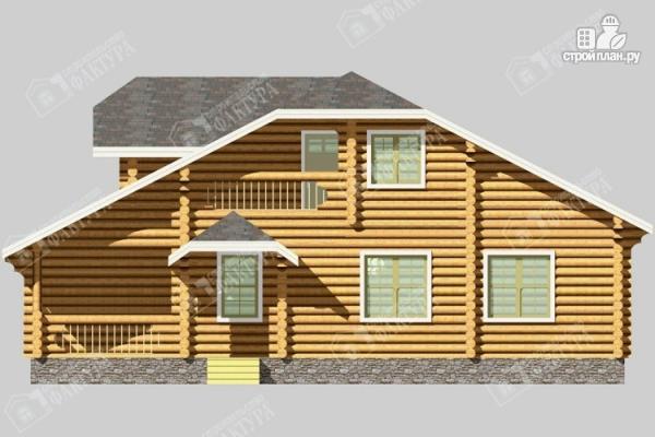 Фото 4: проект бревенчатый дом с мансардой