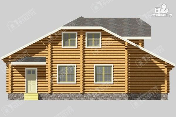 Фото 6: проект бревенчатый дом с мансардой