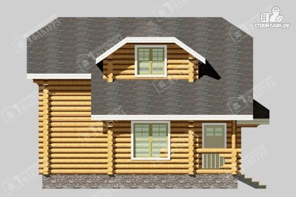 Фото 7: проект бревенчатый дом с мансардой