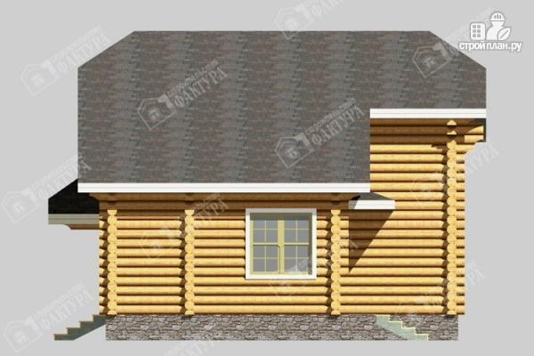 Фото 5: проект бревенчатый дом с мансардой