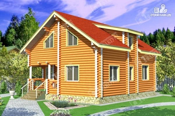 Фото: проект дом из бревна со втором светом