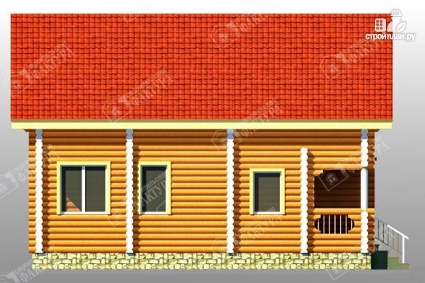 Фото 7: проект дом из бревна со втором светом
