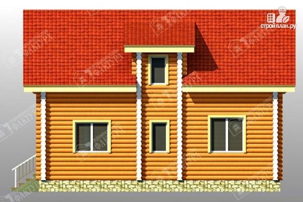 Фото 5: проект дом из бревна со втором светом