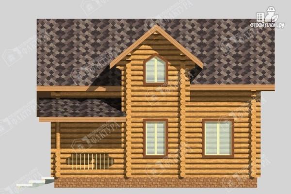 Фото 6: проект большой дом из бревна