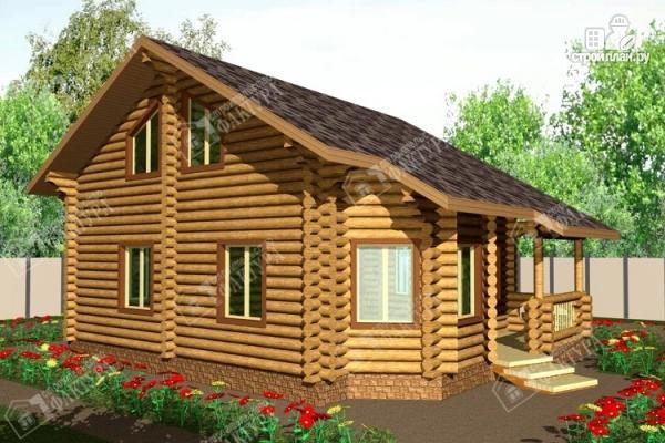 Фото: проект большой дом из бревна