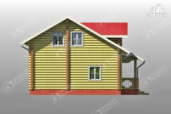 Фото 7: проект двухсветный дом из бревна с маленьким балконом
