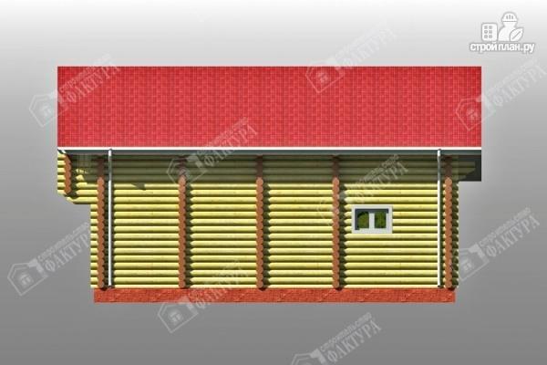 Фото 6: проект двухсветный дом из бревна с маленьким балконом