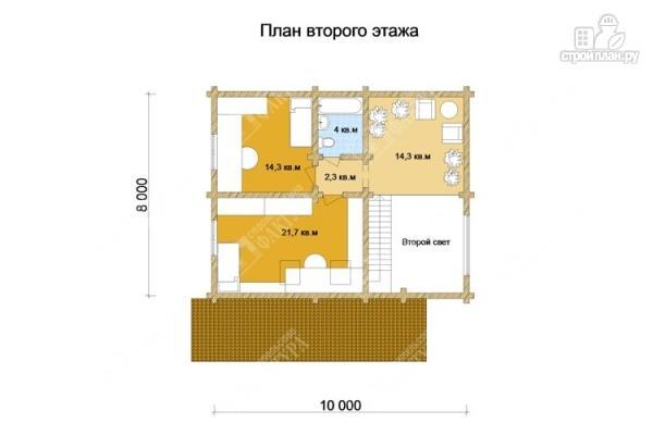 Фото 3: проект дом из бревна 10х10