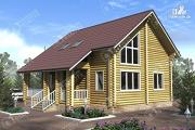 Проект дом из бревна 10х10