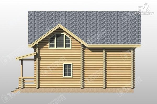 Фото 5: проект дом из бревна с террасой и балконом