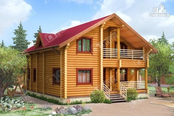 Фото: проект комфортный дом из бревна