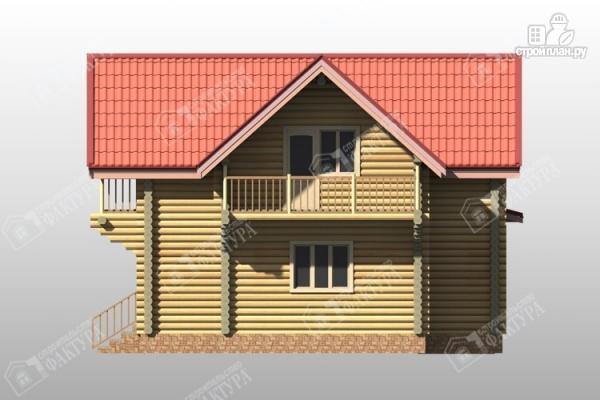 Фото 5: проект двухэтажный дом из бревна с террасой